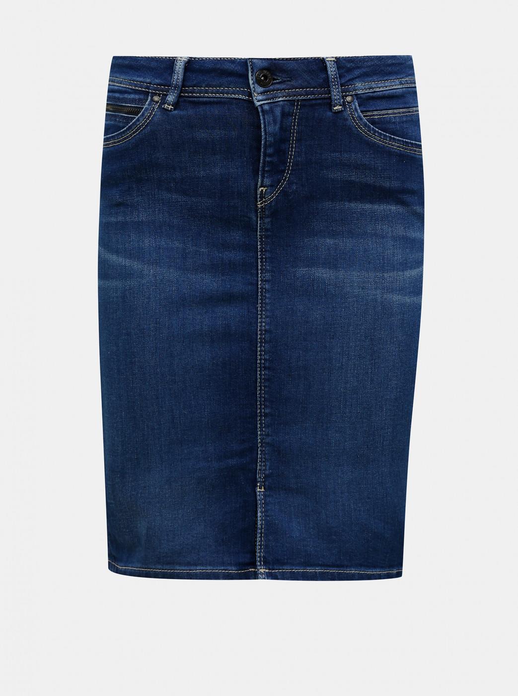 Blue Denim Skirt Pepe Jeans