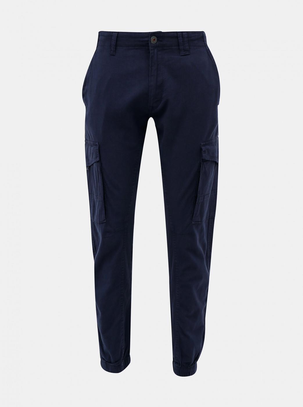 Dark blue trousers with flax flax flax Jack & Jones Paul