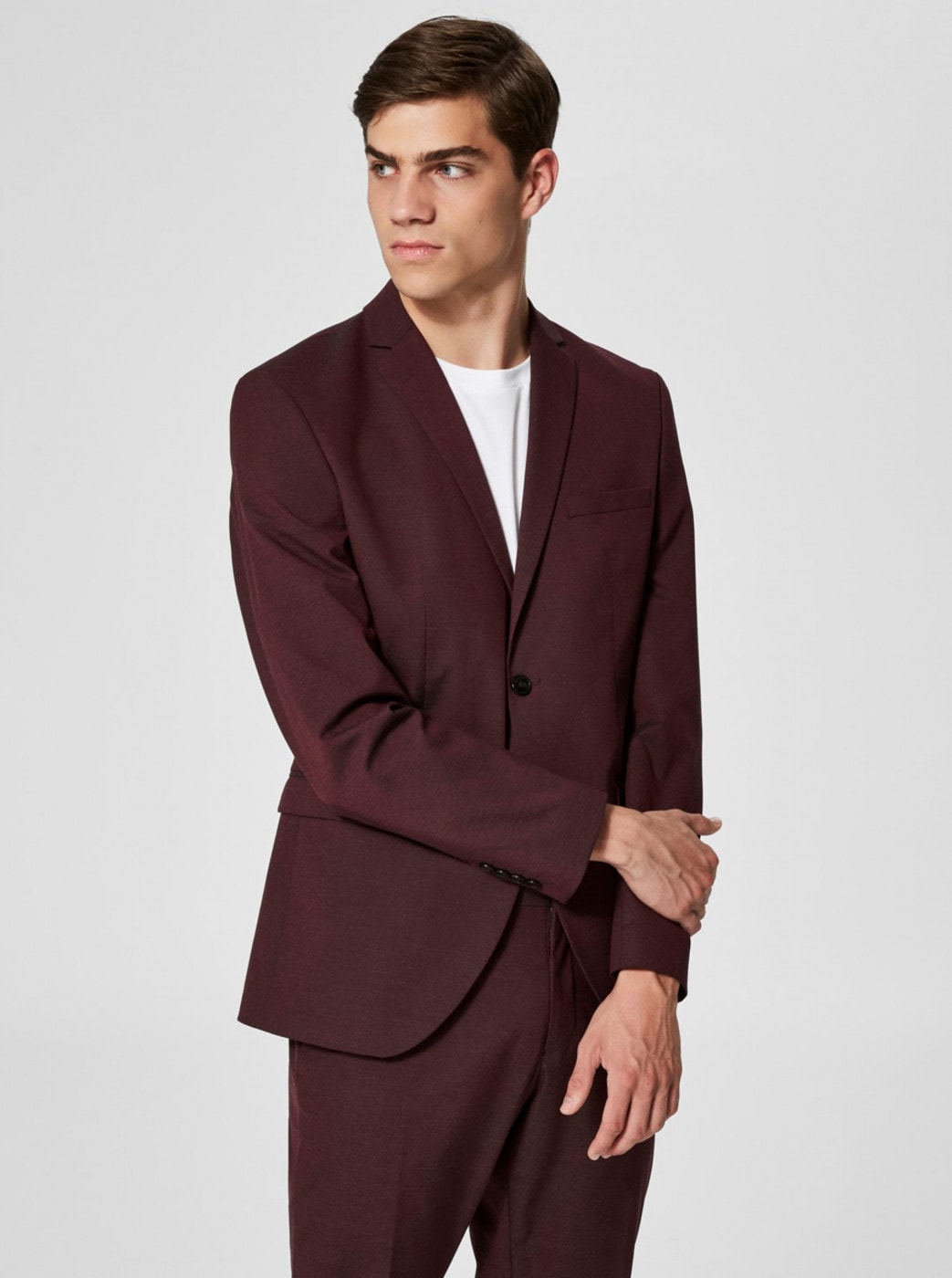 Selected Homme Burgundy Suit Jacket