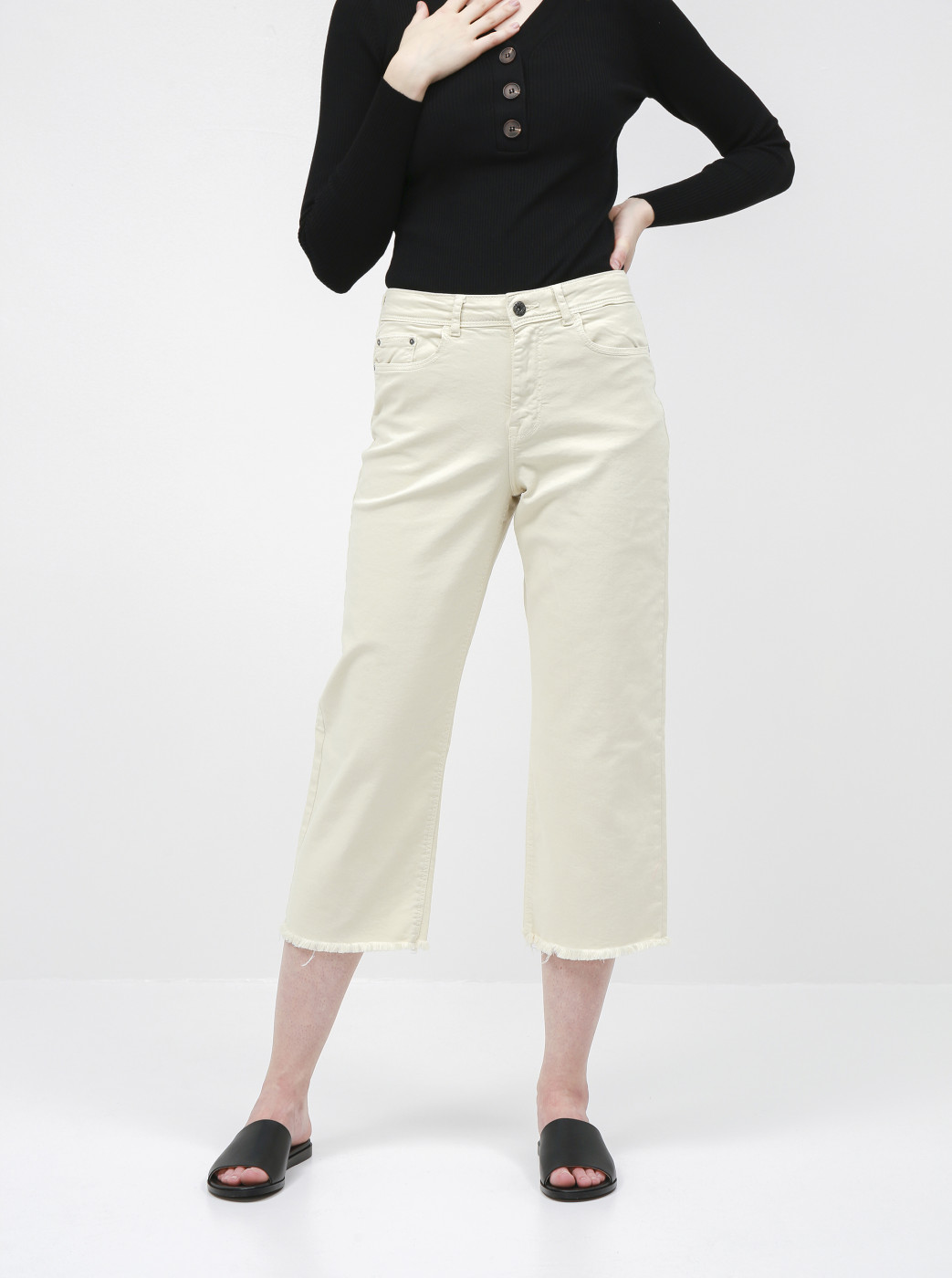 Creamy shortened straight fit jeans Jacqueline de Yong Tonia