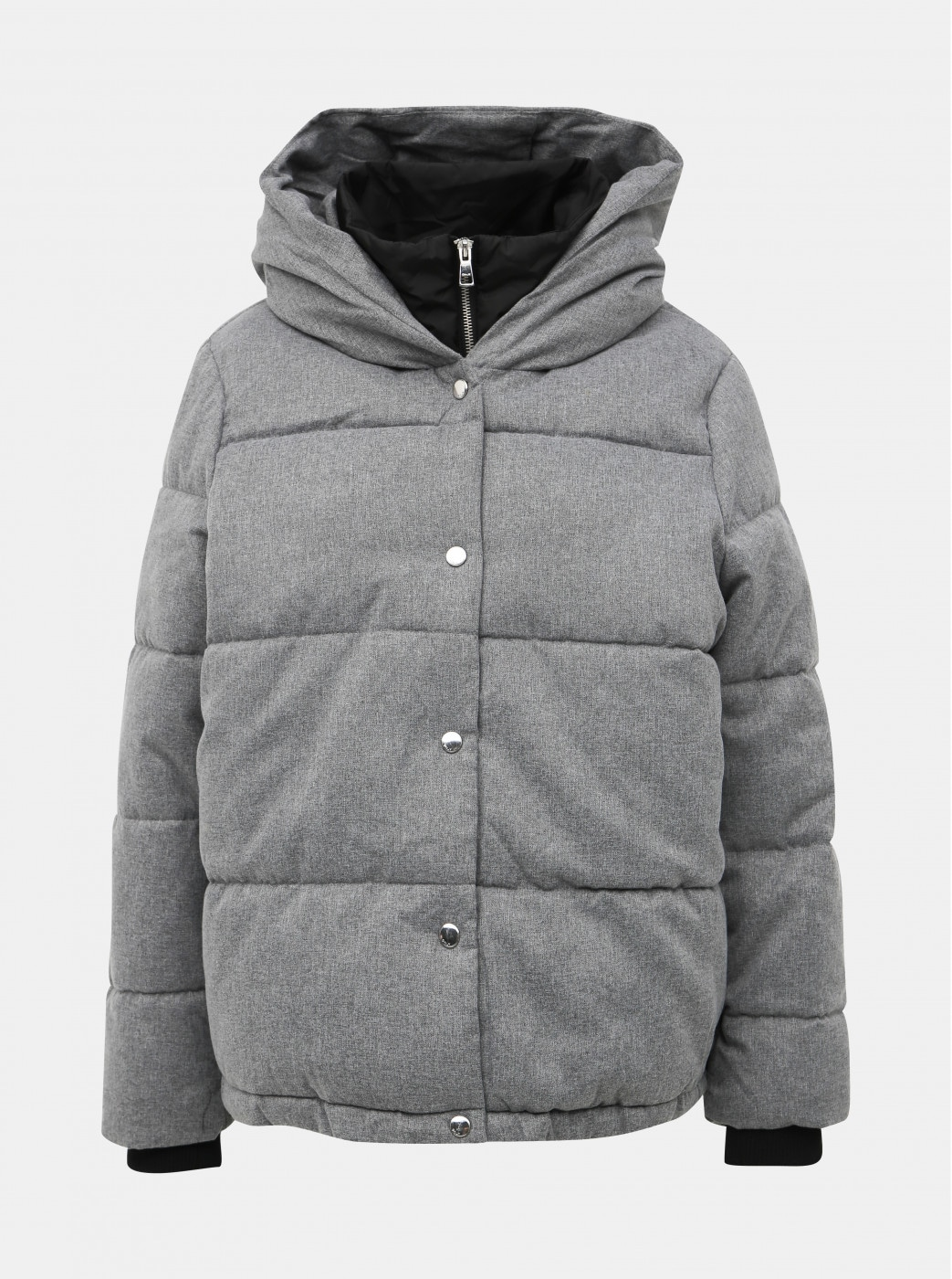 Grey quilted winter jacket ONLY Vikki