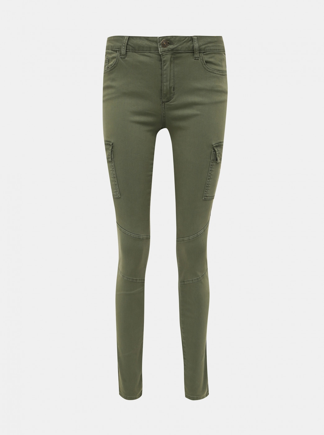Khaki skinny fit pants with pockets ONLY Cece-Bibi