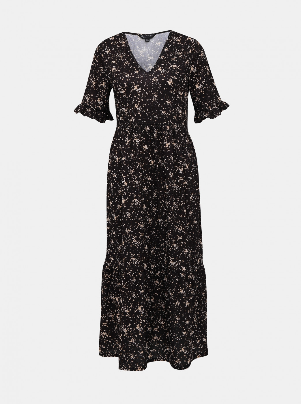 Miss Selfridge's Black Patterned Maxi Dress