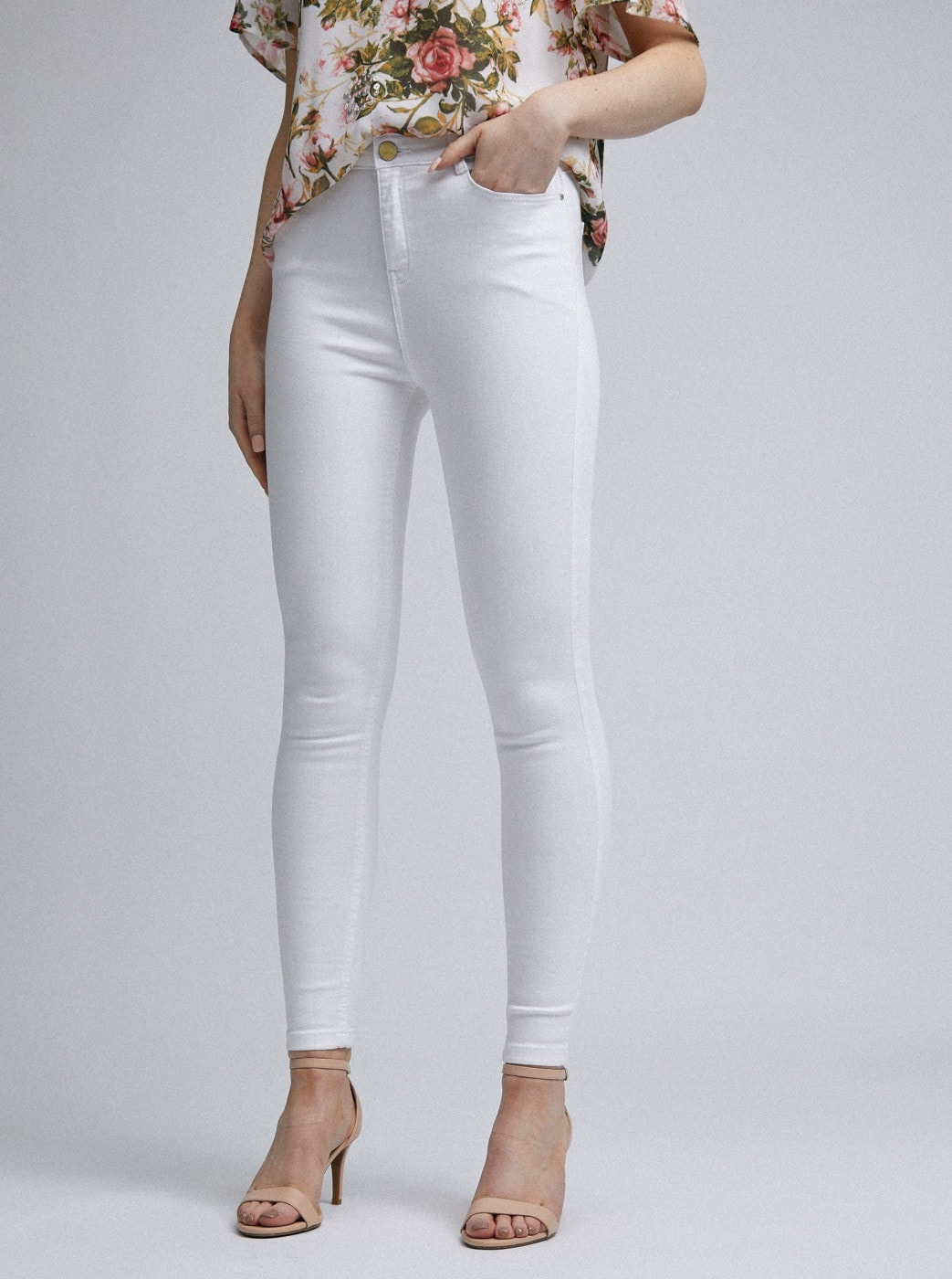 White Skinny Fit Jeans Dorothy Perkins Shape & Lift