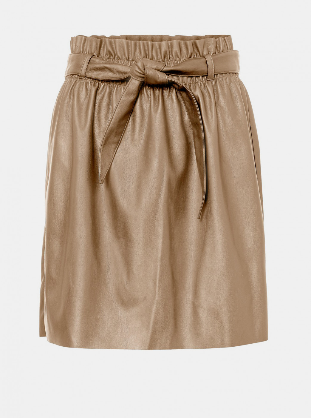 VERO MODA Award Beige Imitation Leather Skirt