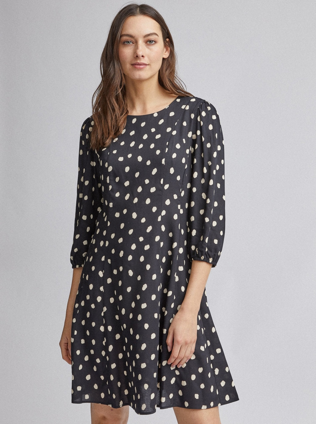 Black dotted dress by Dorothy Perkins