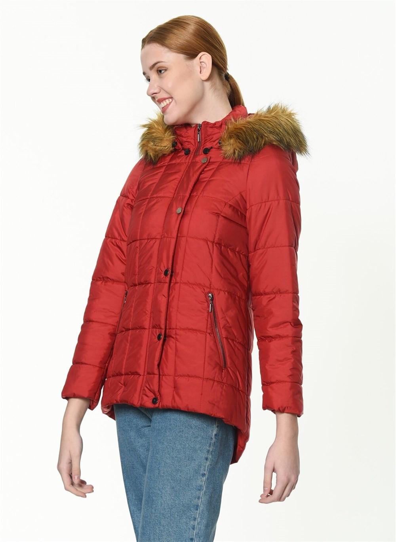 Z6581 Dewberry Women's Coat-red