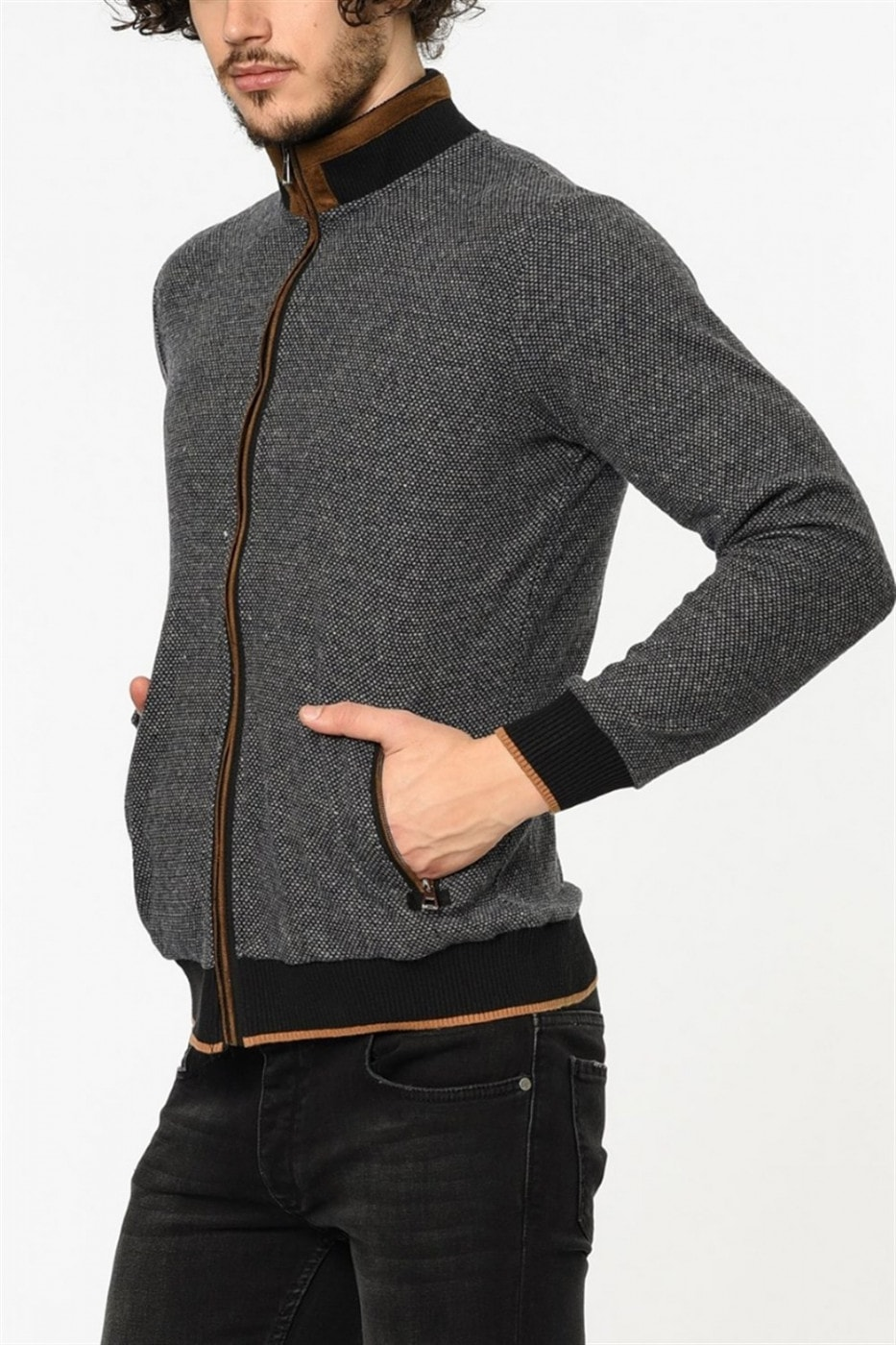 1021 DEWBERRY MEN's SWEATSHIRT-LACİVERT