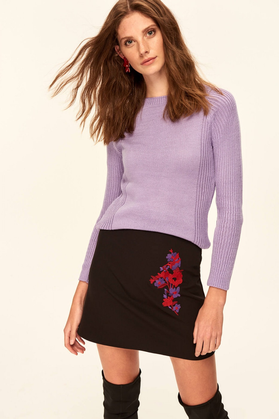 Trendyol Violet Basic Knitted Sweater