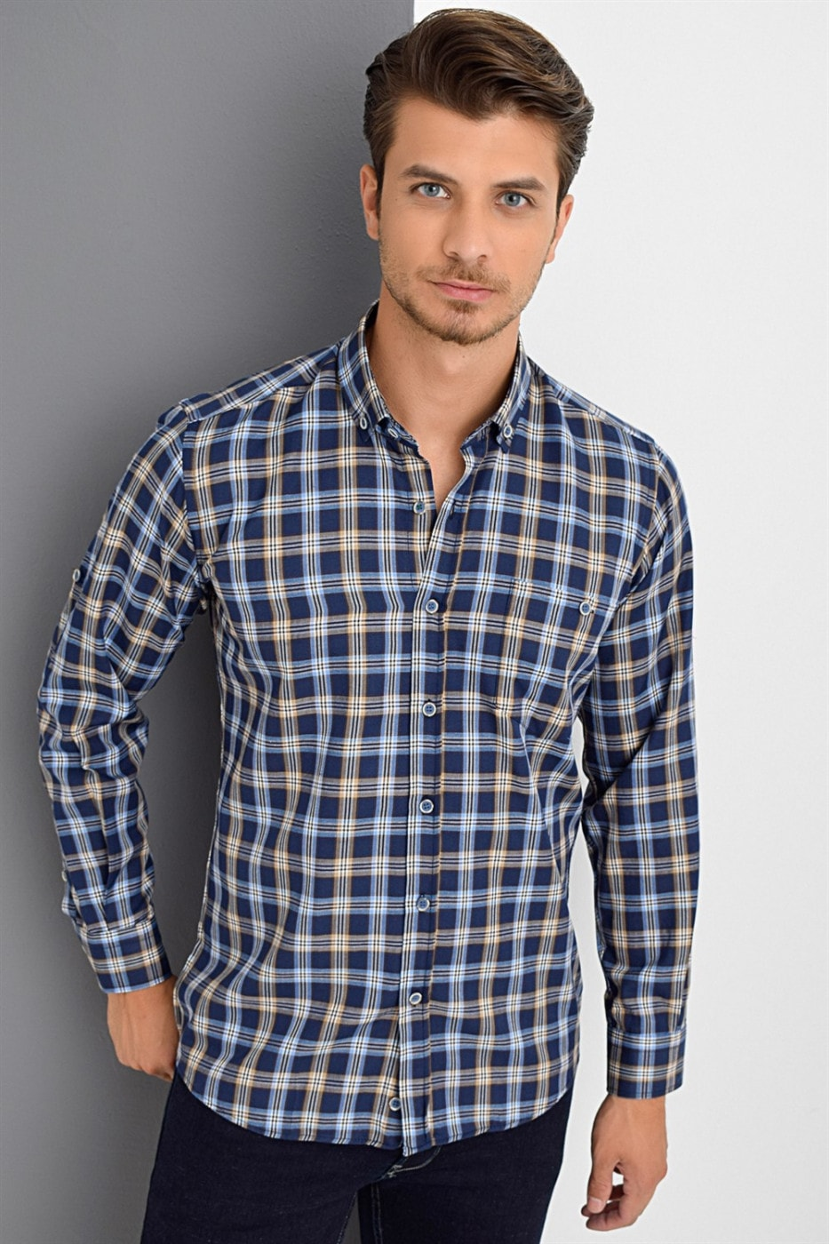 G672 DEWBERRY MEN's SHIRT-NICKNAME- COFFEE