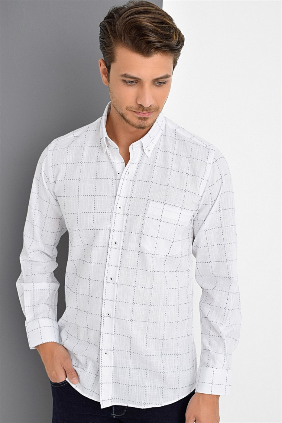 G633 DEWBERRY SHIRT-WHITE