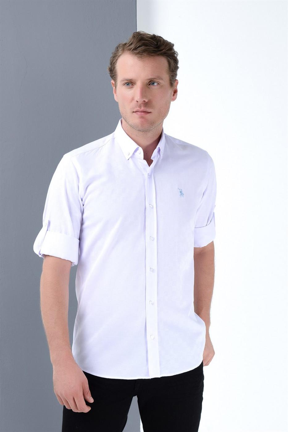 G689 DEWBERRY MEN's SHIRT-WHITE