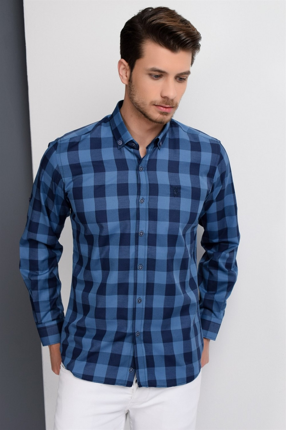 G665 DEWBERRY MEN's SHIRT-NICKNAME-BLUE