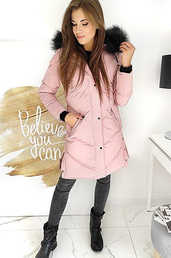 Women's quilted coat VISTEEP pink TY1508