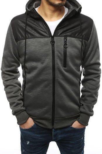 Men's zipped sweatshirt anthracite BX4315