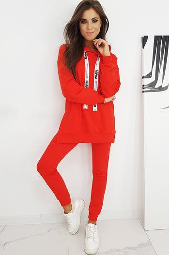 Women's sweat suit MWM red AY0335
