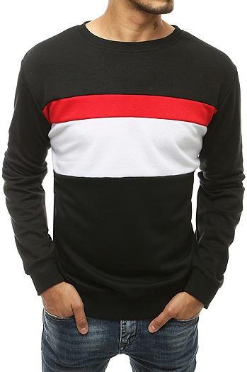 Black men's sweatshirt without hood BX4680