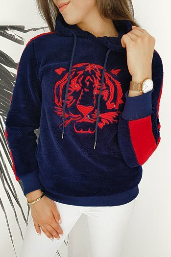 Sweatshirt TIGER navy blue BY0257