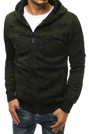 Green men's hooded sweatshirt BX4725