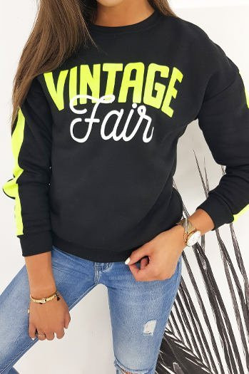Black VINTAGE women's sweatshirt BY0472