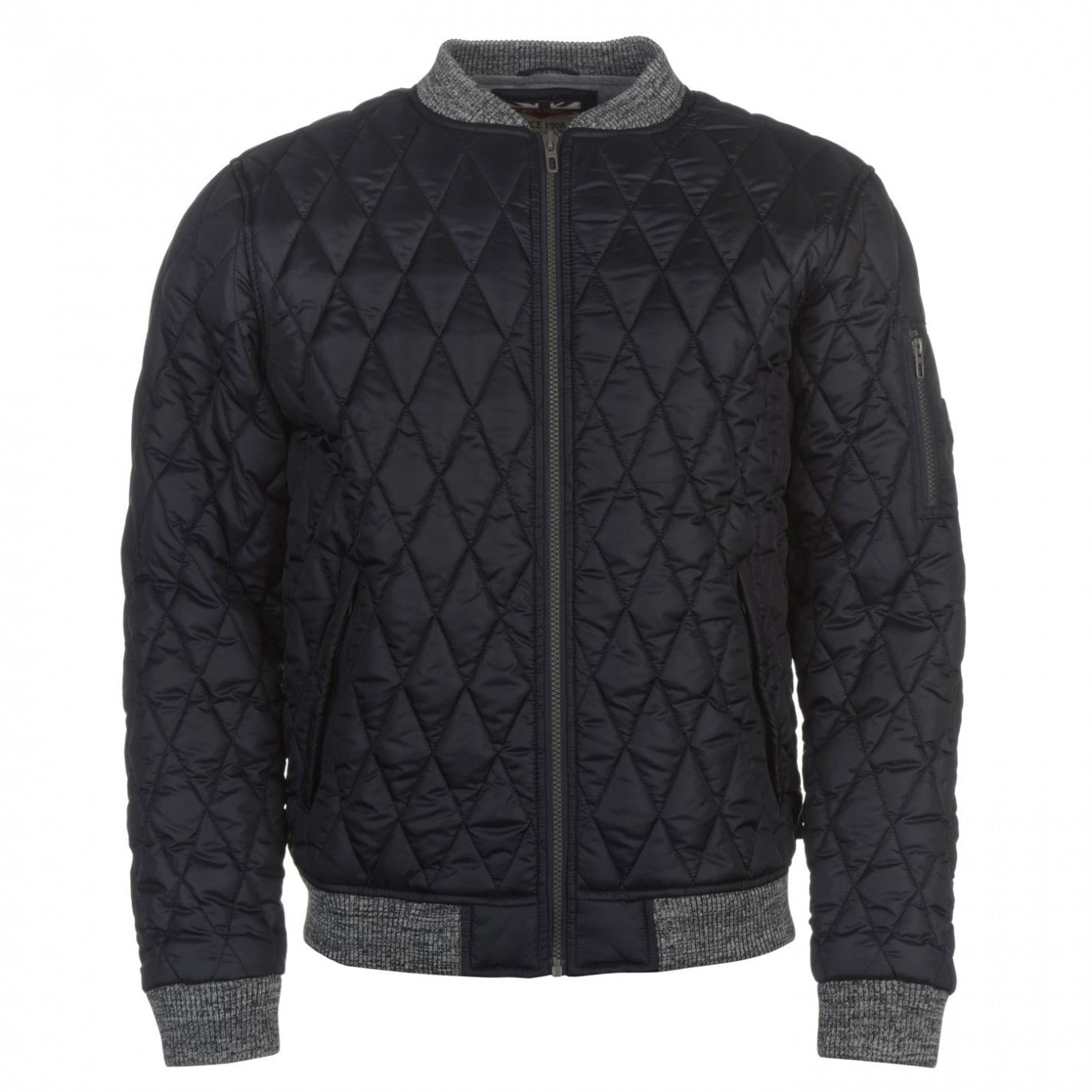 3a7df43cd8b20 Lee Cooper Quilted Bomber Jacket Mens - FACTCOOL