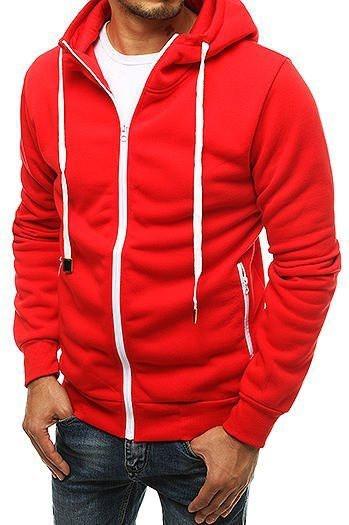 Red men's zipped hoodie BX4693