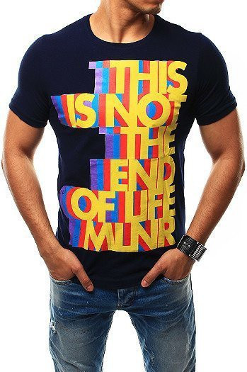 Men's navy blue T-shirt RX2479