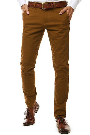 Brown men's chino trousers UX2598