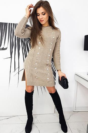ALETA beige dress EY1423