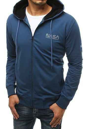 Men's blue zipped hoodie BX4708