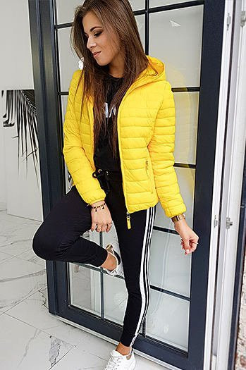 Quilted women's jacket VICTORIA yellow TY1413