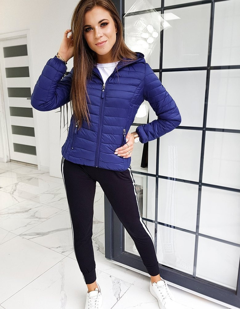 Women's quilted jacket VICTORIA navy blue TY1408