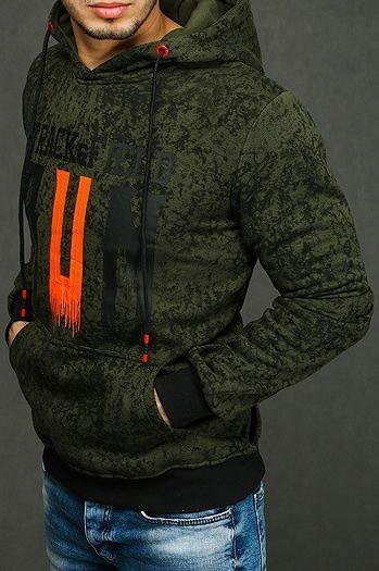 Green men's hoodie BX4438