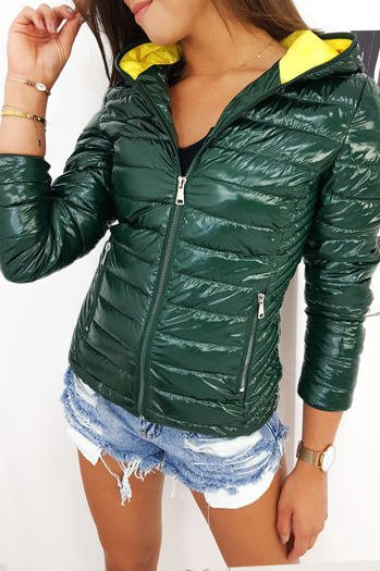 Women's quilted DEISELL jacket, green TY1269