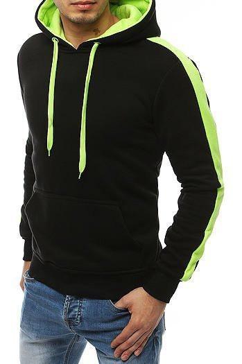 Black men's hoodie BX4456