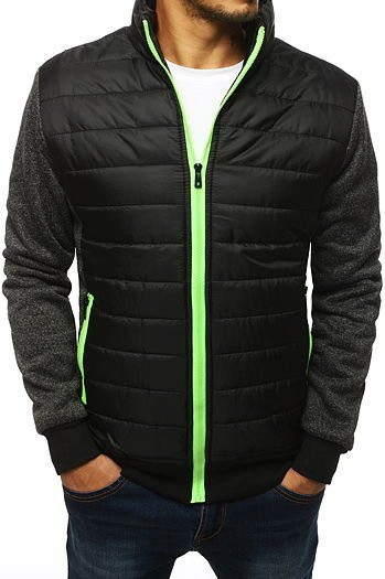 Men's quilted transitional black jacket TX2989