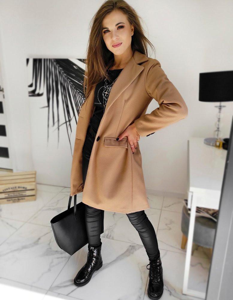 DIVA women's single-breasted coat, camel NY0386