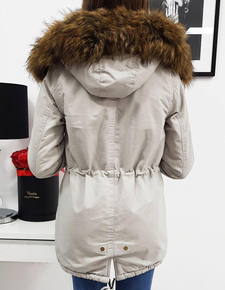 LOVELLY women's winter parka gray TY1024