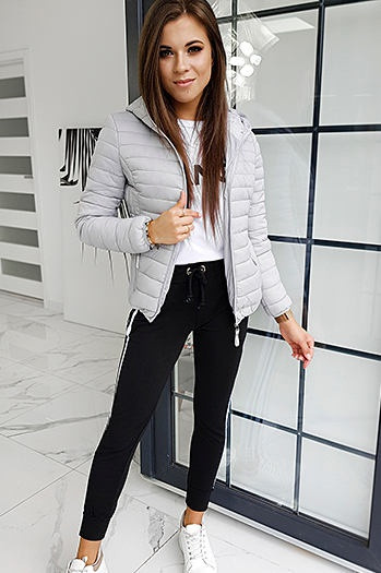 Women's quilted jacket VICTORIA Gray TY1410