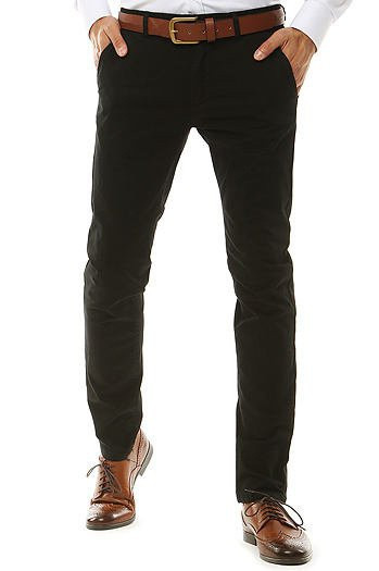 Black men's chino pants UX2581