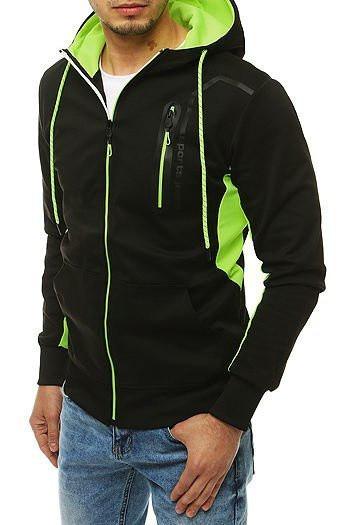 Men's black zip hoodie BX4514