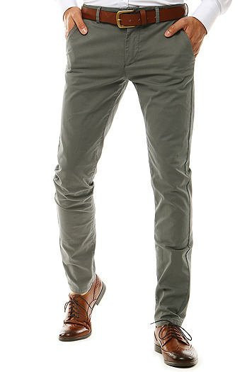 Gray men's chino trousers UX2576
