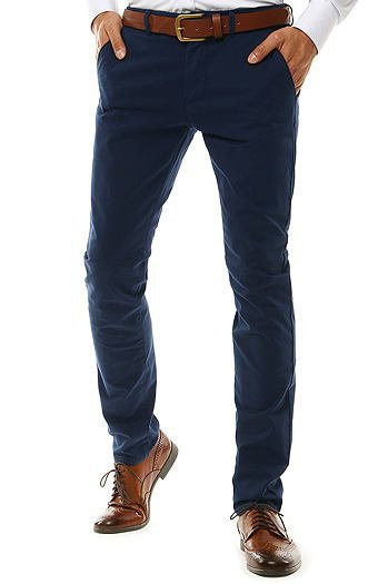Men's navy blue chino trousers UX2577