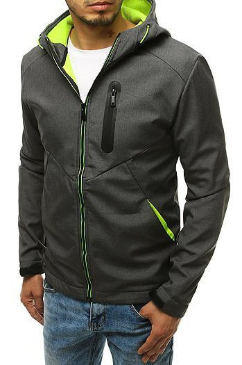 Men's softshell jacket with hood graphite TX3327