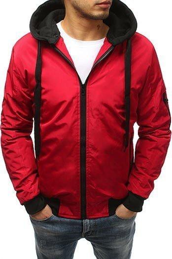 Red men's bomber jacket TX2544