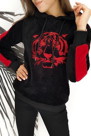 Black TIGER women's sweatshirt BY0259