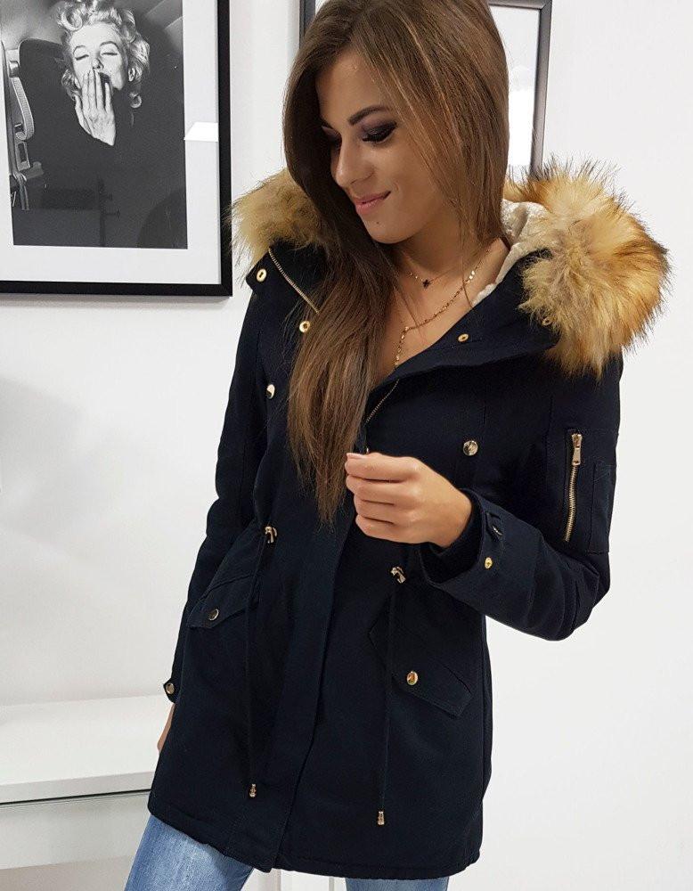 EFECTO women's winter parka jacket, navy blue TY0792