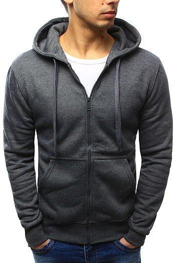 Men's zipped sweatshirt anthracite BX2196