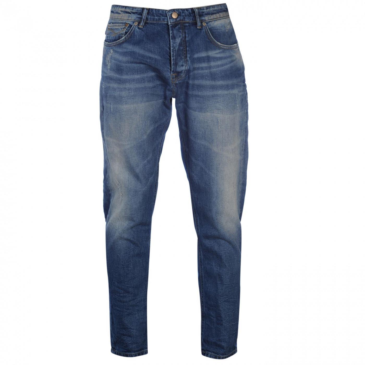 Firetrap Blackseal Mid Paolo Mens Slim Jeans