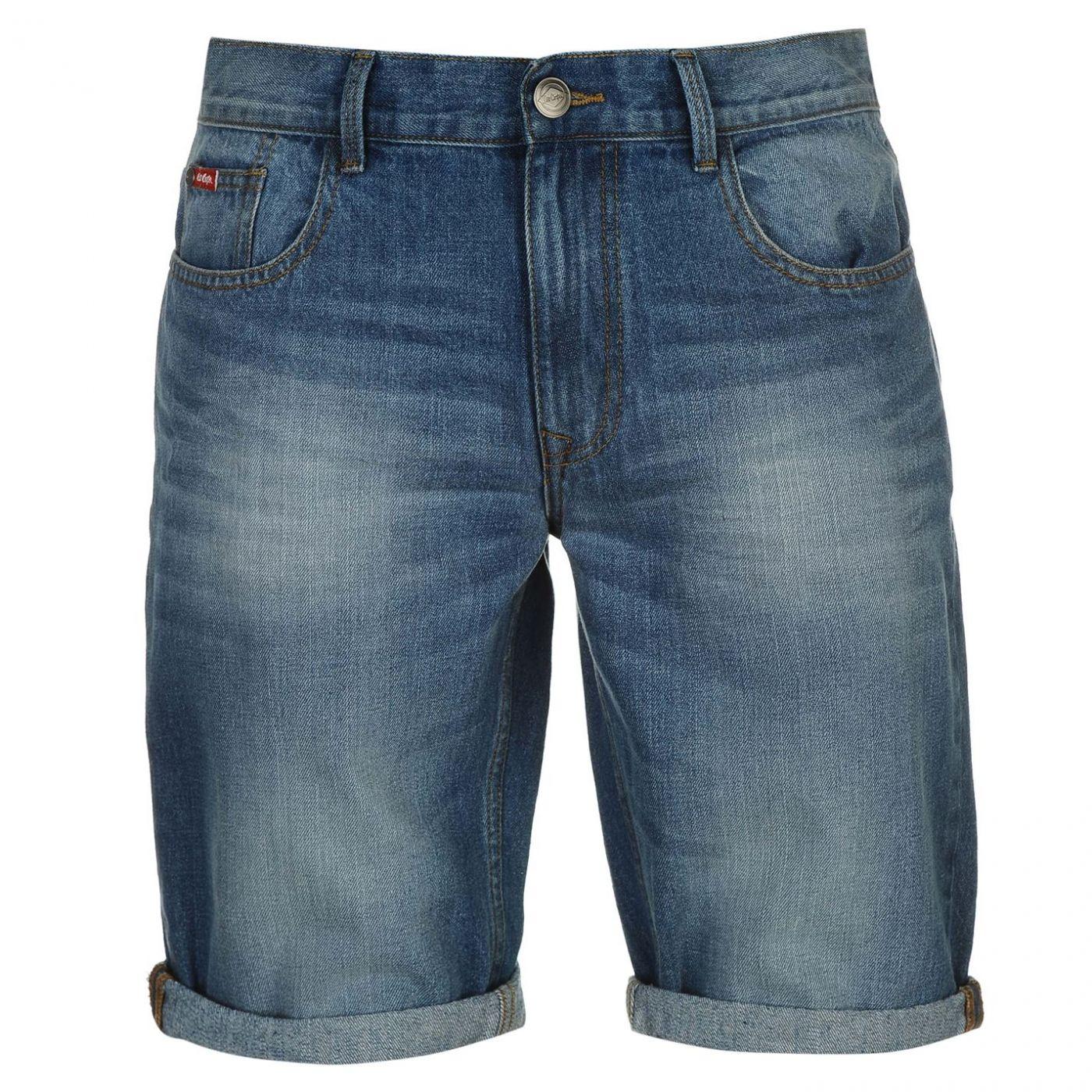 Lee Cooper Belted Jeans Denim Mens Gents